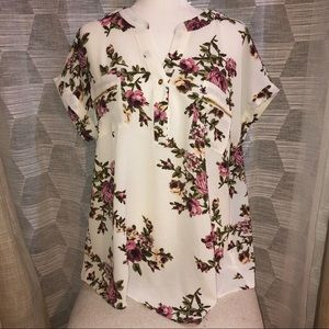 Anthropologie Flower and Feather Blouse